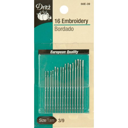 Dritz Embroidery Hand Needles 16/Pkg-Size 1/5 12/Pkg