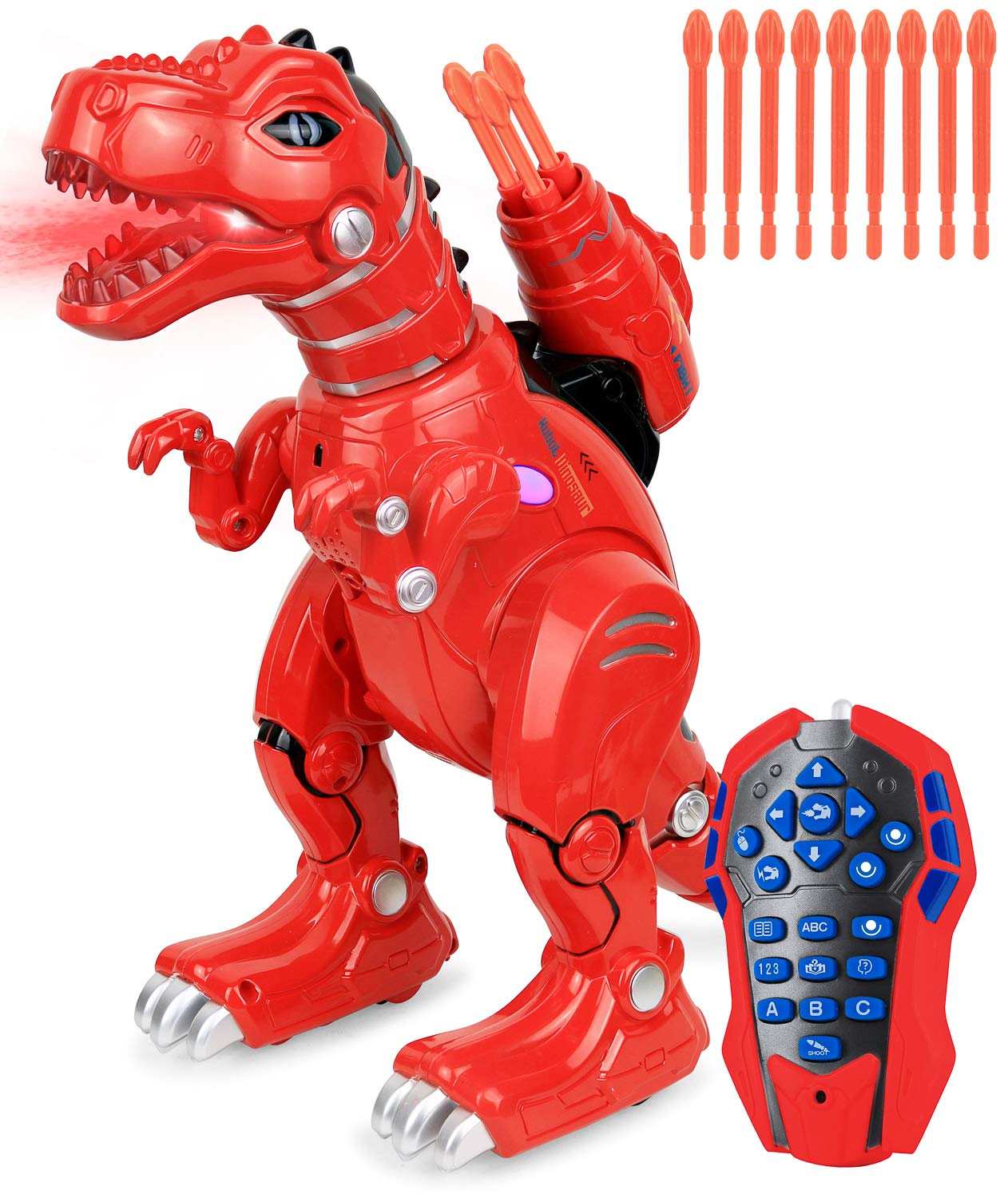 Click N' Play Remote Control Dinosaur Highly Intelligent Fire Breathing Dinosaur Robot with Loads of Features Programmable Entertains Sing Dances Shoots Arrows Askes Riddles Etc