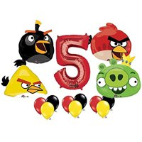 The Ultimate Angry Birds 5th Birthday Party Supplies and Balloon Decorations