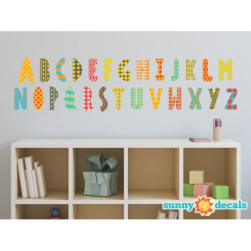 Sunny Decals Modern Alphabet Fabric Wall Decal