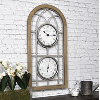 "FirsTime & Co.® 20"" x 10"" Farmhouse Arch Outdoor Clock"