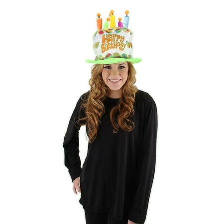 Happy Birthday Party Cake Rainbow Adult Costume Hat One Size - Birthday Cake Costume For Adults