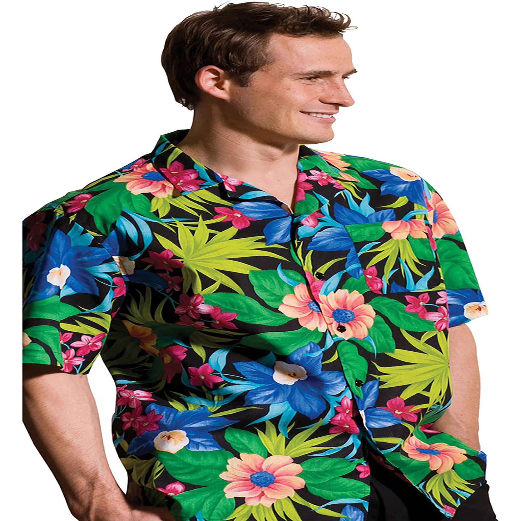 Edwards Garment Plus Size Machine Washable Hawaiian Camp ...
