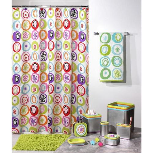'All That Jazz' Shower Curtain & Hook Set - Multiple Options Available Bath Rug - Orange