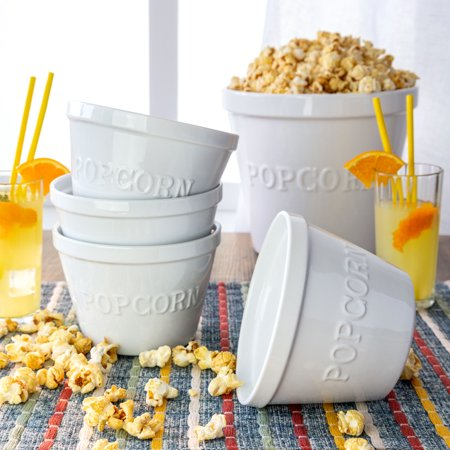 Ceramic Popcorn Bowl (Better Homes & Gardens Small Porcelain Popcorn Bowls, Set of)