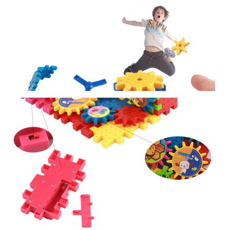 HomeholidayChildren Colorful Plastic Electric Gears 3D Puzzle Building Blolck Kits Bricks Educational Toys Kids Gifts - image 7 of 8