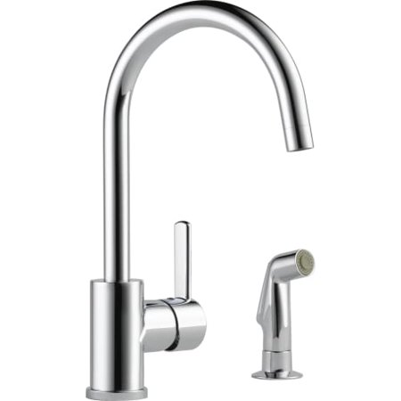 Peerless Precept Single Handle Kitchen Faucet with Side Sprayer in Chrome P199152LF