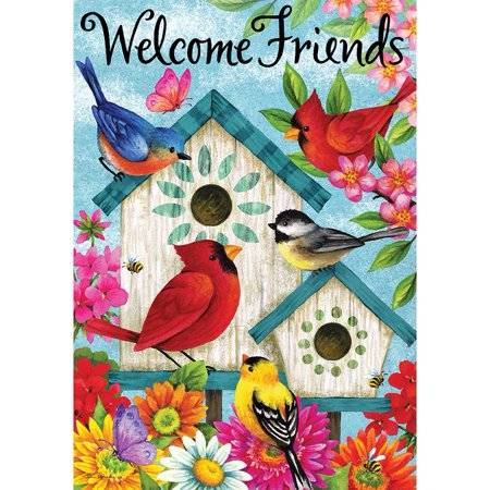 Custom Decor House Flag - Welcome Friends](Cheap Custom Flags)