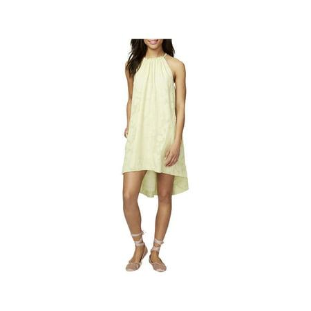 Rachel Rachel Roy Womens Jacqueline Halter Hi-Low Tunic Dress Green L