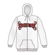 Emmure Men's  Zenkai Power Zippered Hooded Sweatshirt White