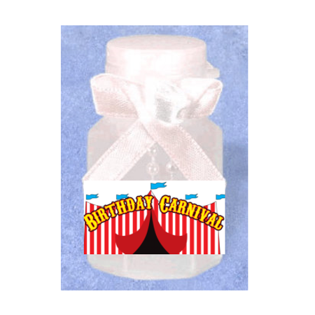 Birthday Carnival 12pack Mini Bubble Favors - Carnival Birthday