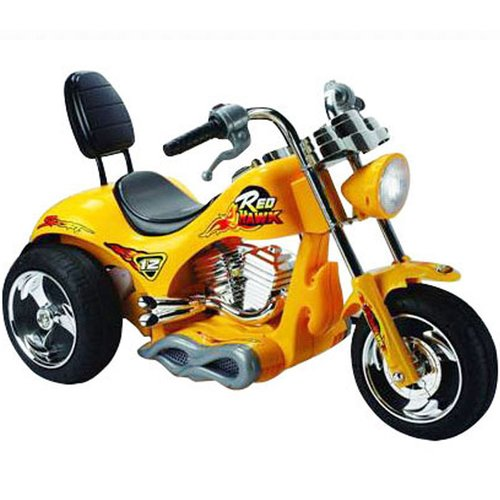 Big Toys Red Hawk 12V Battery Powered Motorcycle by Big Toys