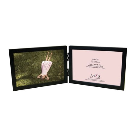 - MCS Willow Wood Double Horizontal Picture Frame For 6x4