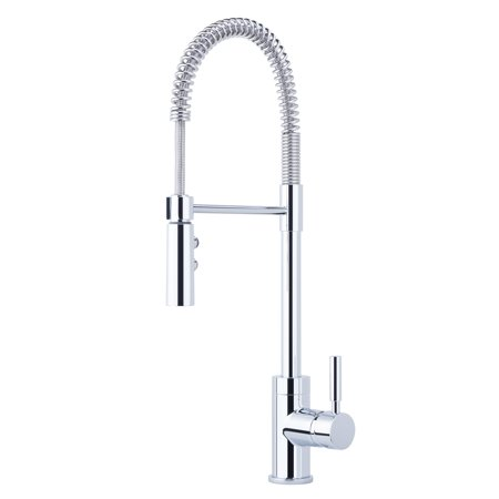 Miseno MK6557 Professional Commercial Style Pre-Rinse Kitchen Faucet - Includes Lifetime Warranty and Decorative Deck (Faucets Deck)