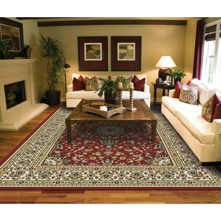 Large Area Rugs for Living room 8x10 Red ()