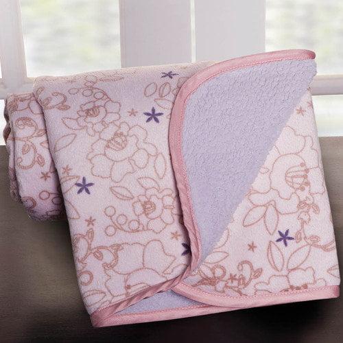 Kids Line Fleur Printed Velour Blanket