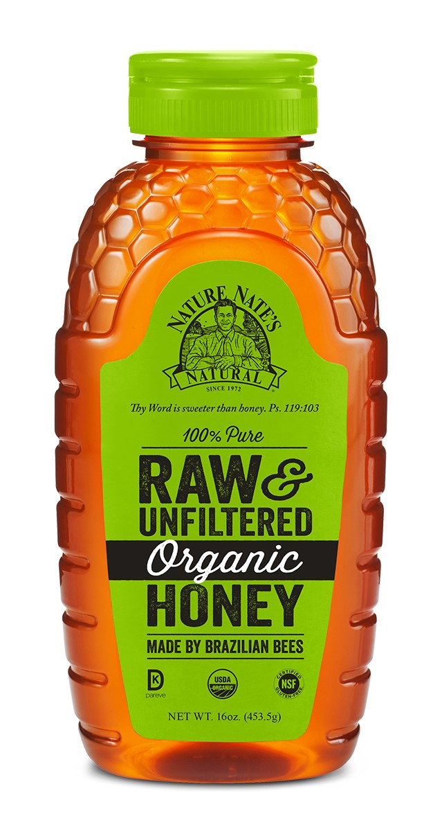 Nature Nate's Organic Honey, 16 Oz by Nature Nate's