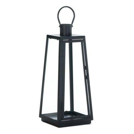 Candle Lamp, Black Exploration Decorative Modern Table Candle Lantern, Large - Large Black Lanterns