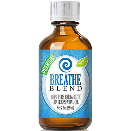 Breathe Blend 100  Pure  Best Therapeutic Grade Essential Oil   60Ml   2  Oz  Ounces   Comparable To Doterras Breathe   Young Livings Raven Blend   Peppermint  Eucalyptus  Lemon  Tea Tree  Ravensara