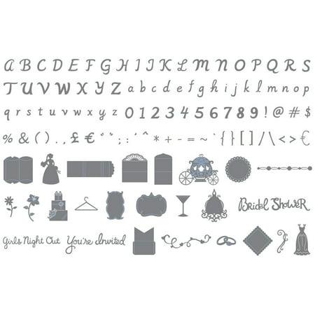 eclips Cartridge - Wedding Shower & Big Day Alphabet, New sizzix artwork for eclips machine - wedding shower and big day alphabet theme By Sizzix