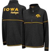 Colosseum Women's Iowa Hawkeyes Horsetail Half-Zip Black Shirt