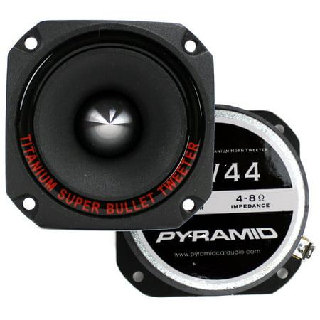 "2) New Pyramid TW44 1"" 600W Heavy Duty Titanium Dome Bullet Car Super Tweeters"