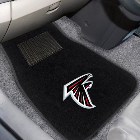 NFL Atlanta Falcons 2-PC Embroidered Front Car Mat Set, Universal Size ()