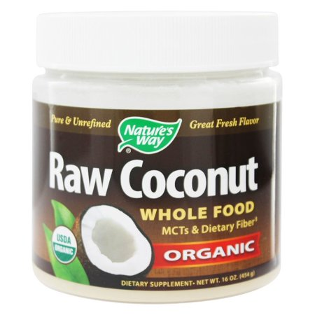 Nature's Way - Organic Pure & Unrefined Raw Whole Food Coconut - 16 oz(pack of