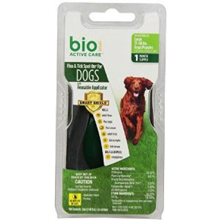 Bio Spot Active Care Flea & Tick Spot On With Applicator for Large Dogs (31-60 lbs.) 1 Month Supply Multi-Colored