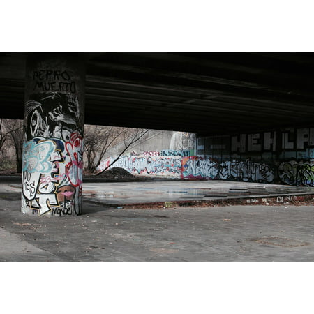 Framed Art For Your Wall Painting Graffiti Bridge Art Architecture Outdoor 10x13 Frame