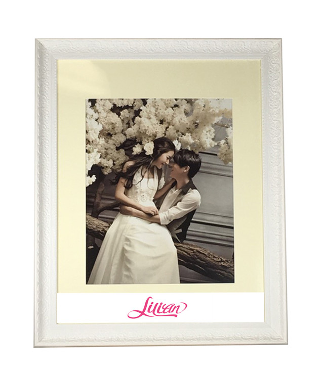 Lilian 22x28 White Photo Frame Made to Display Picture 16x20 with