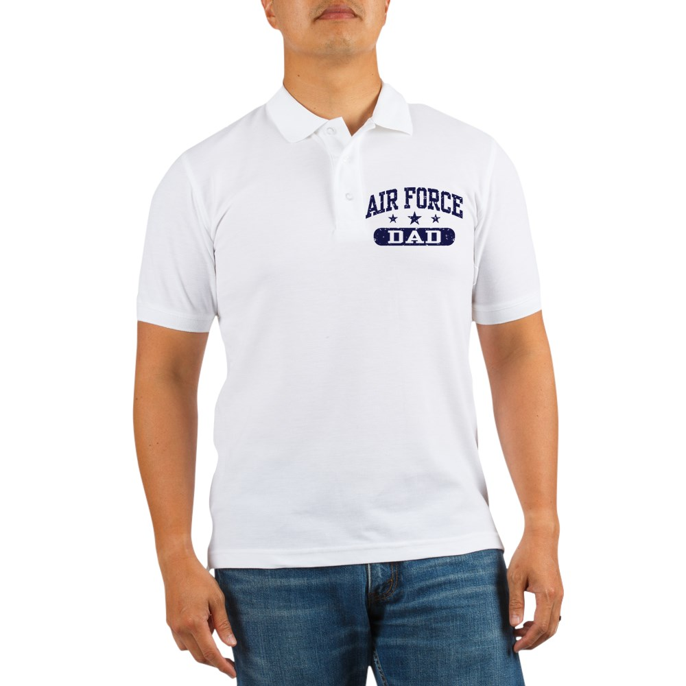 CafePress - Air Force Dad Golf Shirt - Golf Shirt, Pique Knit Golf Polo