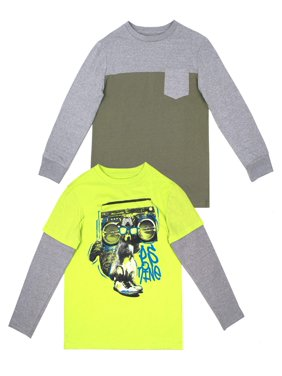 427a8fa02dca Product Image Long Sleeve Graphic and Pocket Tee Value, 2-Pack Set (Little  Boys &