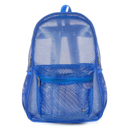 White Camouflage Backpack (Mesh Backpack Heavy Duty Student Bookbag Quality Simple Classic School Book Bag (Royal)