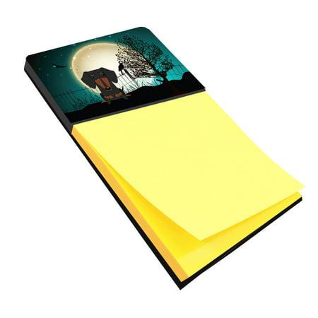 Halloween Scary Dachshund Black Tan Sticky Note Holder BB2322SN