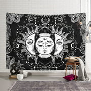 59x79 inch Psychedelic Wall Art Tapestry Sun and Moon Tapestry Tapestry Chakra Yoga Wall Hanging Tapestry Home Decor