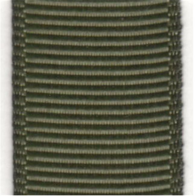 Papilion R07420206057420YD .25 in. Grosgrain Ribbon 20 Yards - Olive Drab