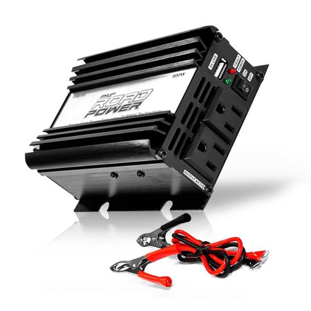 PYLE PINV55 - Plug in Car 500 Watt 12v DC to 115 Volt AC Power Inverter w/ Modified Sine Wave & 5 Volt USB