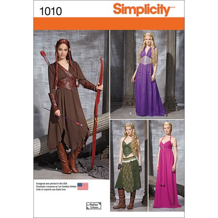 Simplicity Misses' Size 14-22 Fantasy Costumes Pattern, 1 Each