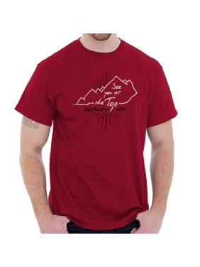 276d60a8b8bed Product Image Brisco Brands Kentucky Mountains At The Top Short Sleeve  Adult T-Shirt