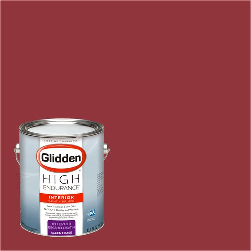 Glidden High Endurance, Interior Paint and Primer, Red Delicious, # 00YR 08/409