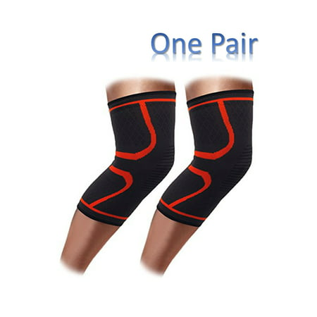 NK SUPPORT One Pair Knee Brace Compression Sleeve Best Knee Pads for Meniscus Knee, Arthritis, Quick Recovery and Support for Sport