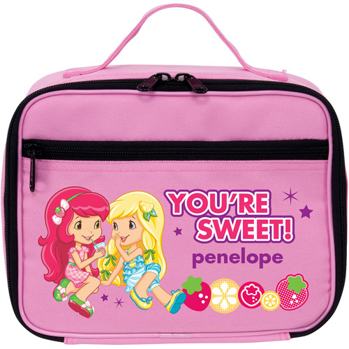 Personalized Strawberry Shortcake Lemon Meringue Pink Lunch Bag