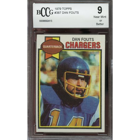 1979 topps #387 DAN FOUTS san diego chargers BGS BCCG 9 ()