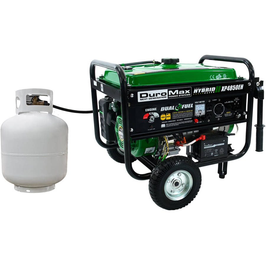 DuroMax Dual Fuel 4,850W Hybrid Propane Gasoline Generator by Generic