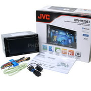 """JVC KW-V120BT 2-Din Bluetooth DVD/CD/USB Receiver with 6.1"""" WVGA Touch Screen"""