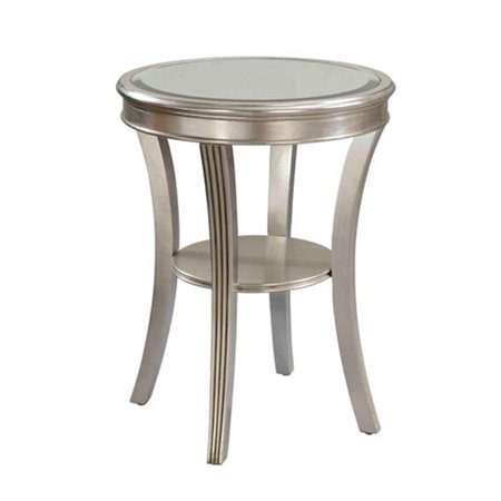 Accent Table H26 50 Kenney Silver Leaf