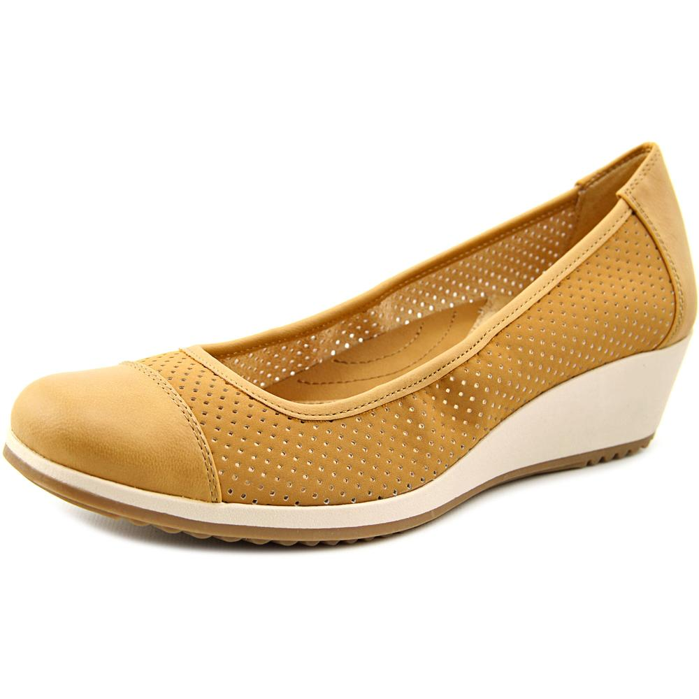 Click here to buy Naturalizer Bartow Women Open Toe Synthetic Tan Wedge Heel by Naturalizer.