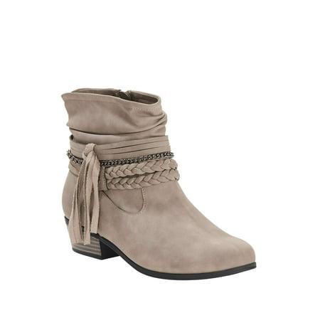 Wonder Nation Fashion Fringe Cowboy Boot (Little Girls & Big Girls) (Ariat Womens Cowboy Boots)