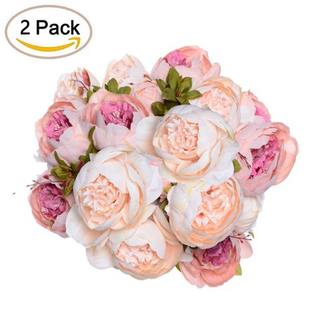 Coolmade fake flowers vintage artificial peony silk flowers wedding coolmade fake flowers vintage artificial peony silk flowers wedding home decorationpack of 2 mightylinksfo